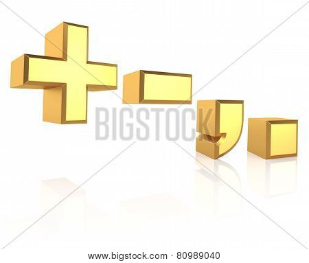 3D Gold Signs