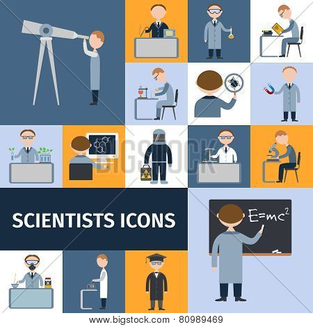 Scientists Icon Set