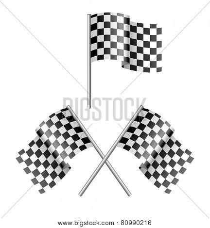 black and white sport flag