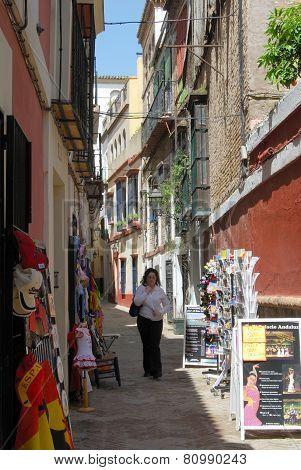 Old town back street, Seville.