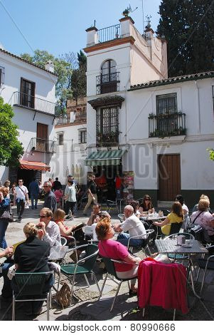 Pavement cafe, Seville.
