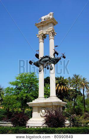 Christopher Columbus monument, Seville.