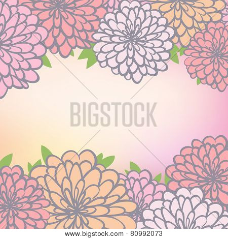 floral background with chrysanthemum. eps10