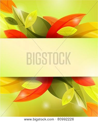 autumn background with leaves. eps10