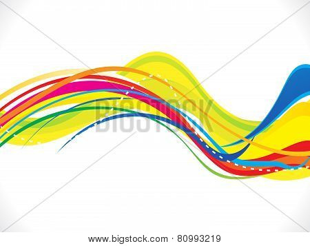 Abstract Artistic Colorful Wave Background