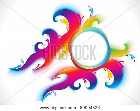 Abstract Colorful Artistic Rainbow Circle Background