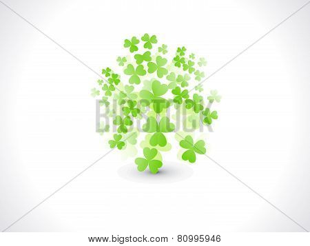 Abstract St Patrick Flying Clover