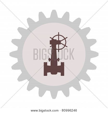 Silhouette of the valve gear.