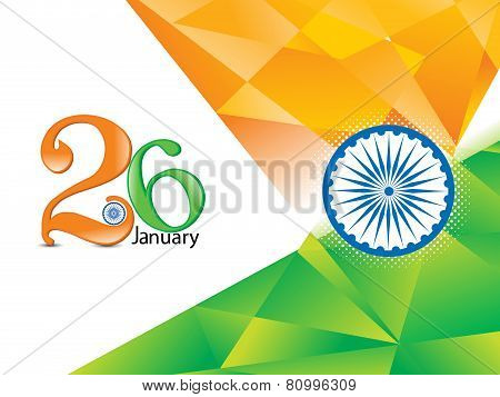 Abstract Indian Republic Day Background