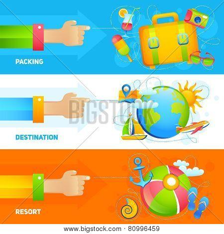 Summer Vacation Banner Set