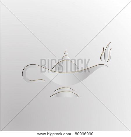 Cartoon Vector Illustration Genie Lamp