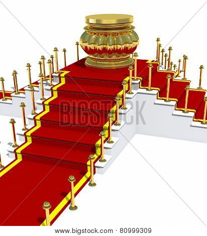 Award Is On Red Carpet.