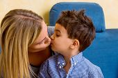 stock photo of soliciting  - mother and son mother symbol of love - JPG