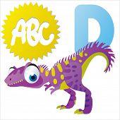 pic of dinosaur skeleton  - D is for vector cartoon Dinosaur isolated  - JPG