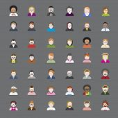 picture of rasta  - People Diversity Portrait Design Characters Avatar Vector - JPG
