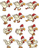 stock photo of chicken  - Chicken sprites with running - JPG