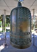 picture of plant species  - Christchurch Botanical Gardens New Zealand is the home of this Peace Bell established in 1868 the garden mixes native forest with planted species - JPG