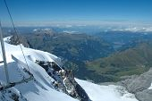 picture of firn  - Rock and snow view from Jungfraujoch pass in Alps in Switzerland - JPG