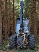 image of bohemia  - forest machine logging South Bohemia Czech Republic - JPG