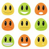 picture of emoticons  - Set of 9 emoticons  - JPG
