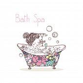 foto of bath tub  - beauty concept - JPG