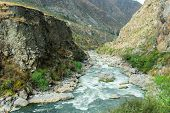 stock photo of andes  - Urubamba river near Machu Picchu  - JPG