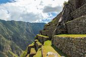 picture of world-famous  - Machu Picchu a Peruvian Historical Sanctuary in 1981 and a UNESCO World Heritage Site in 1983 - JPG