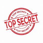 image of top-secret  - Top secret rubber stamp vector illustration eps10 - JPG