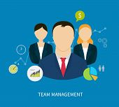 foto of human resource management  - Vector flat concept of management - JPG