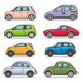 image of car symbol  - Vector set - JPG