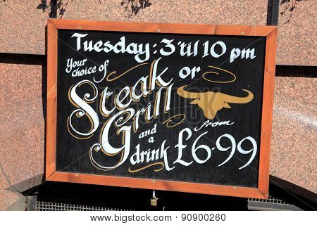 Steak or Grill sign