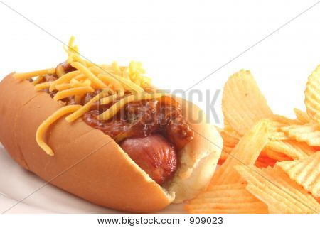 Hot Dog y Chips