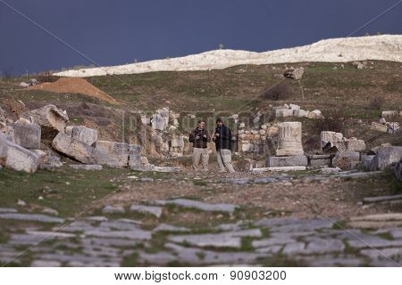 Tourists Explore Antioch Pisidian