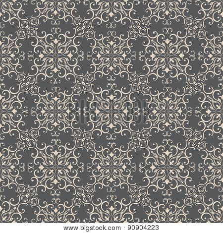 Floral pattern wallpapers in the style of Baroque . Can be used for backgrounds and page fill web de