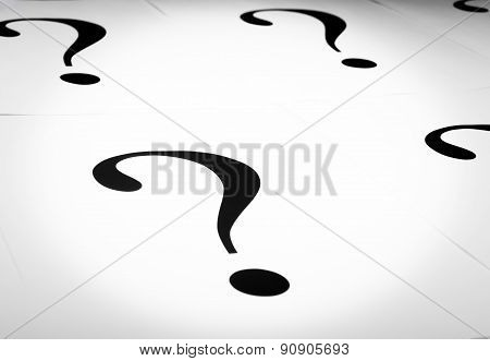 Metaphorical set of question marks