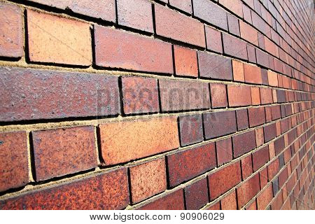 Diminishing brick wall background