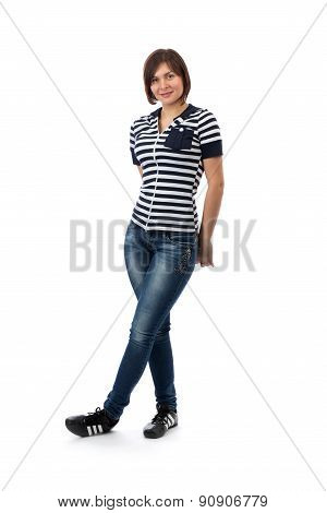 Girl In A Striped Dress