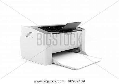Laser Printer Isolated On White Background