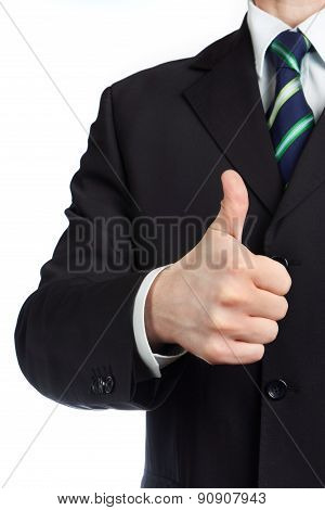 Mans Hand With Thumb Up