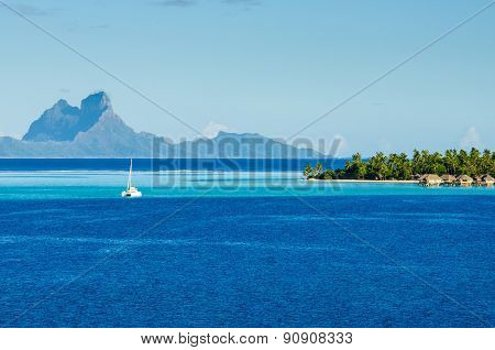 Sailboat in the South Pacific