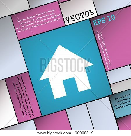 Home, Main Page  Icon Sign. Modern Flat Style For Your Design. Vector