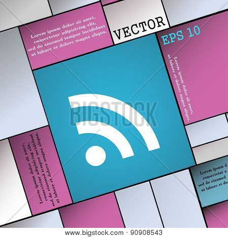 Wifi, Wi-fi, Wireless Network  Icon Sign. Modern Flat Style For Your Design. Vector
