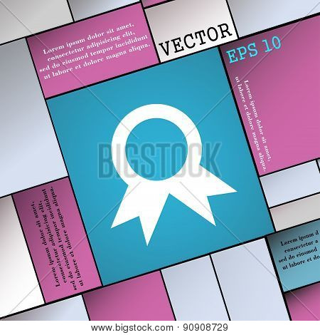 Award, Prize For Winner  Icon Sign. Modern Flat Style For Your Design. Vector