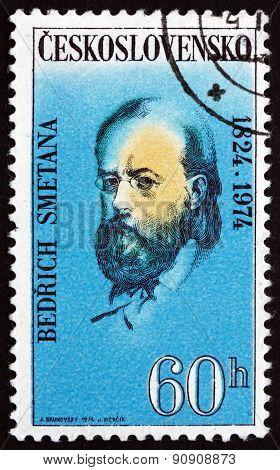 Postage Stamp Czechoslovakia 1974 Bedrich Smetana, Czech Compose