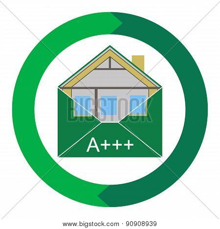 House Eco Green Building Envelope Energy Efficiency symbolic figurative image