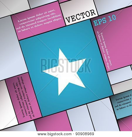 Star, Favorite  Icon Sign. Modern Flat Style For Your Design. Vector