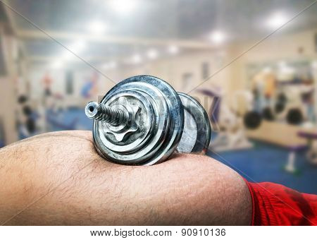 Dumbbell on the belly