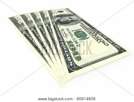 Money Concept - Several Dollars Banknotes