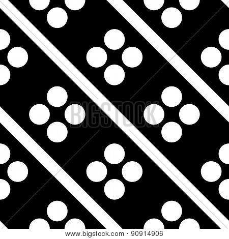 Seamless Circle and Stripe Pattern. Vector Regular Texture