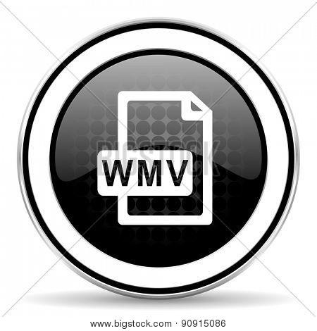 wmv file icon, black chrome button